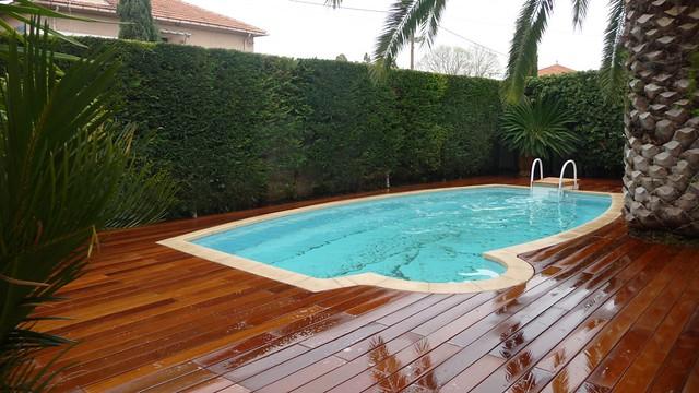 r novation piscine terrasse bois exotique ip avec margell