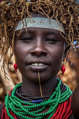 portrait of a girl dassanech tribe | by anthony pappone photography