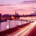 Purple cityscape