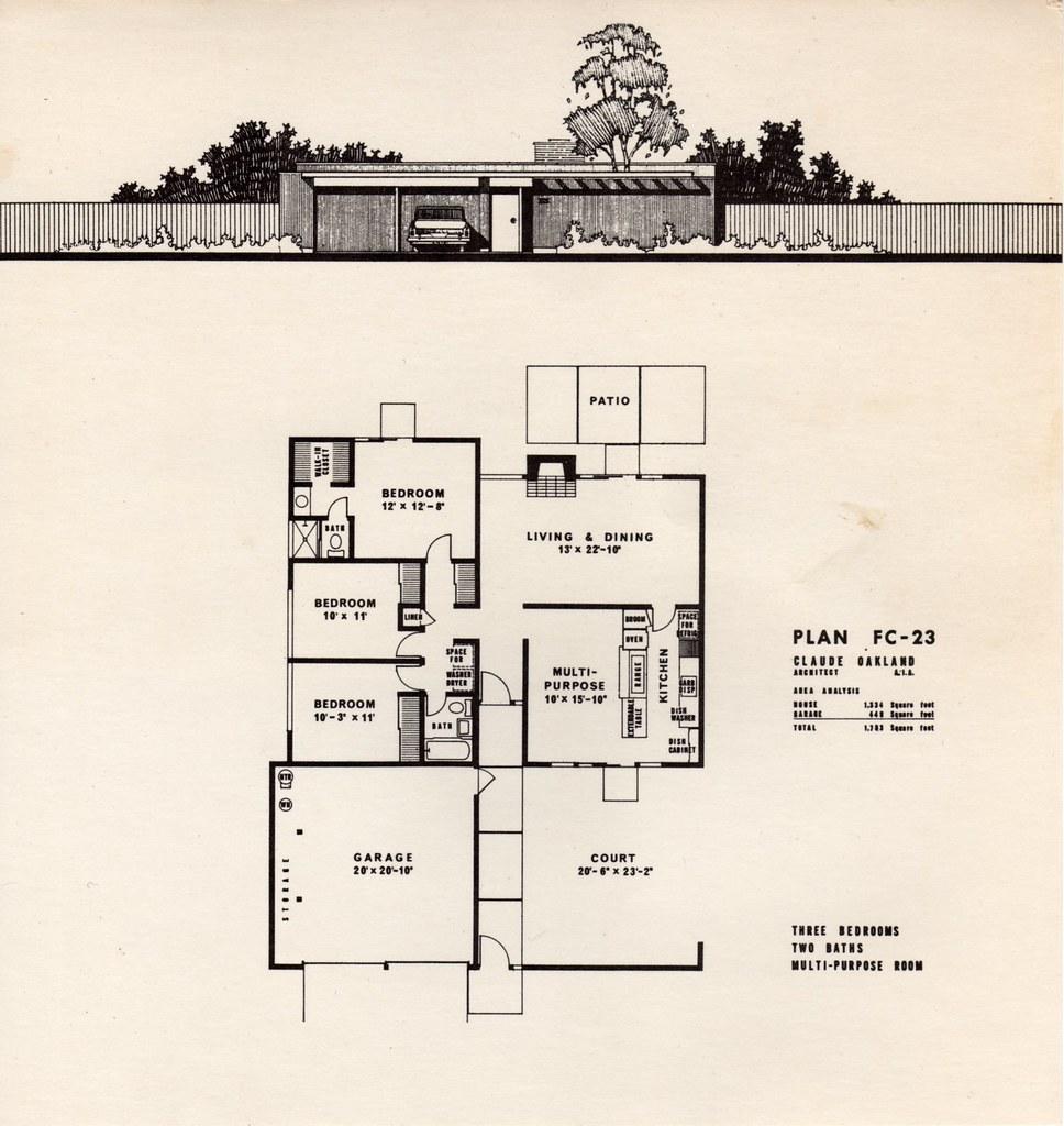 Eichler Homes of Foster City brochure Leaflet 1 Plan FC – Eichler Homes Floor Plans