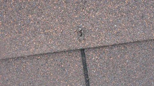 Nail Hole Roof Leak Source Changed Out A Few Missing