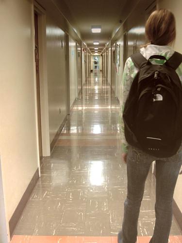 Hallway dorm hallway english106 flickr for Foyer meaning in english
