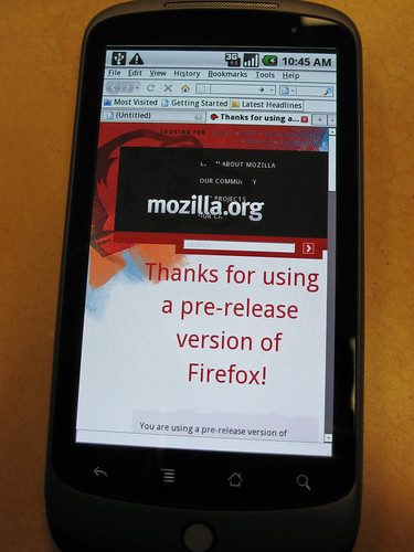 Firefox running on a Nexus One | by madhava_work