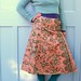 Lovebirds Vintage Chintz lined wrap skirt