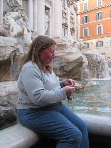 Knitting by the Trevi Fountain | by Cathi O'Neill