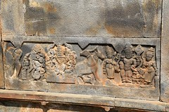 Wall depiction.Krishna and Mahavishnu