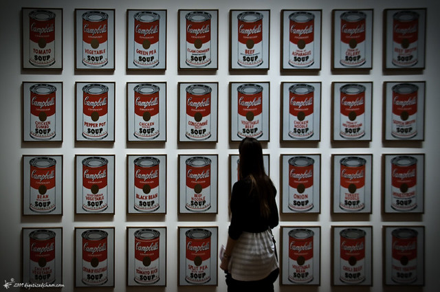 an analysis of the campbell soup can painting by andy warhol Some works, like andy warhol's 32-part campbell's soup cans (1962), have  never before been shown in france.