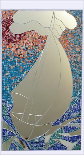 Mosaico in vetro con specchio mosaico di tessere di - Specchio con mosaico ...