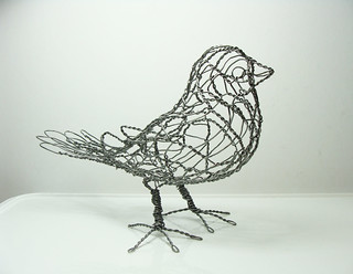 Wire Sculpture Bird B1_right | by Ruth Jensen