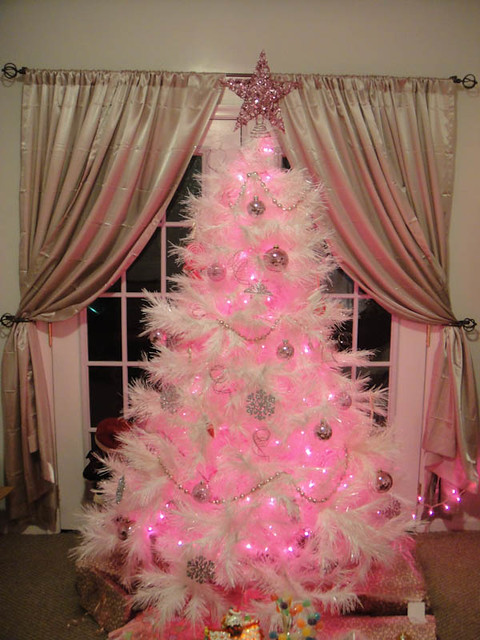 I 39 m dreaming of a pink christmas our pink christmas tree - Navidad shabby chic ...