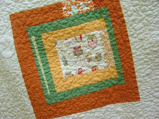 Dots & Critters Baby Quilt back close up | by alissahcarlton