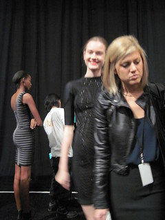 Failed picture of Jac backstage at Herve Leger | by style rookie