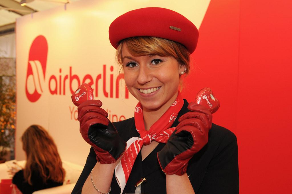 Flight Attendant Of Airberlin World Business Dialogue