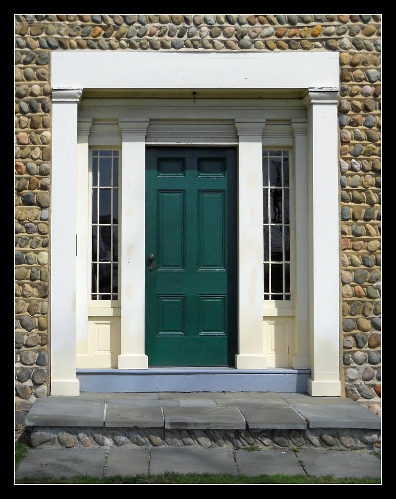 Front door Cobblestone farmhouse Heman Ticknor purchased…