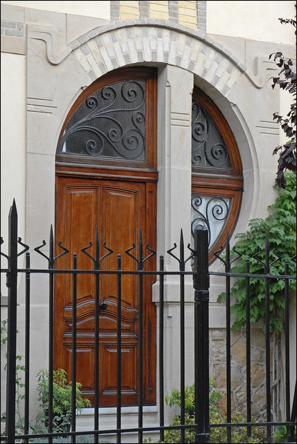 Porte D Entr 233 E D Une Villa Art Nouveau Du Parc De Saurupt