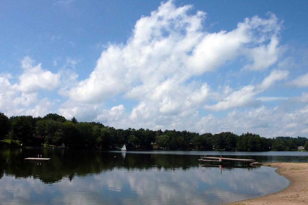 Galloping Clouds Visiting Woodridge Lake In West