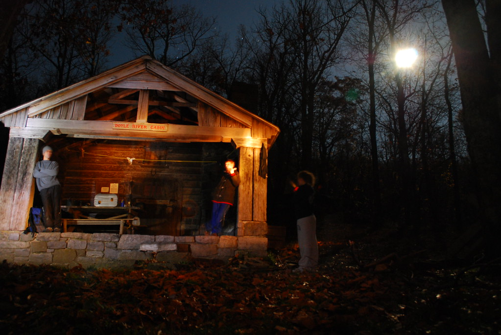 Doyles River Cabin At Night Rick Wellbeloved Stone Flickr