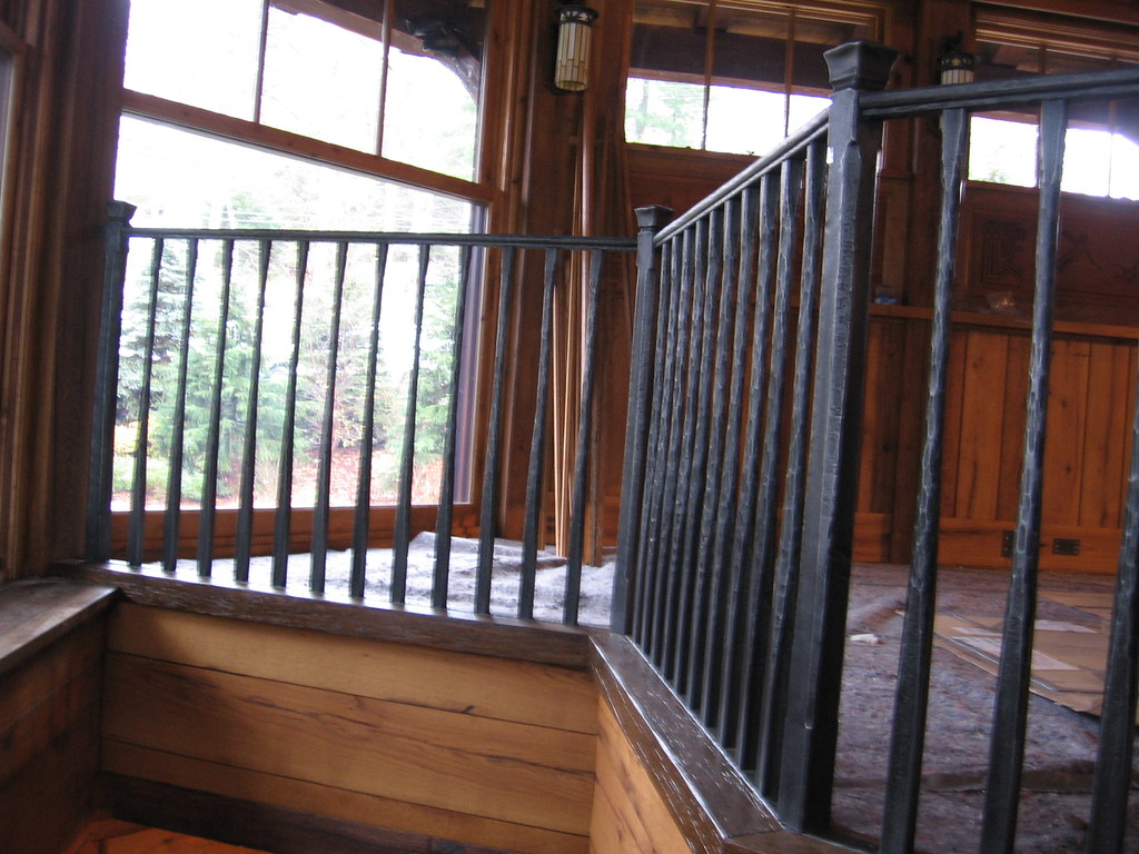 ... Rustic Hand Forged Stair Railing | By Keuka Studios