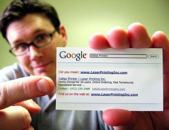 Business Cards Google Style Daniel Semprtegui Flickr
