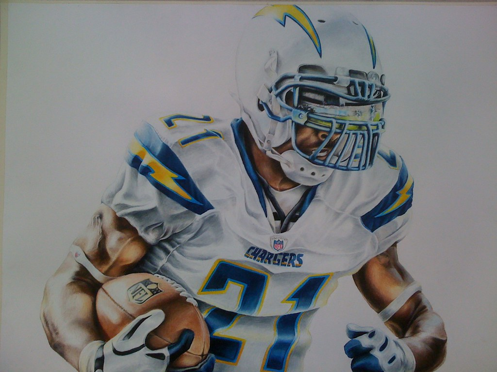 Quot Charged Up Quot Colored Pencil Of San Diego Chargers