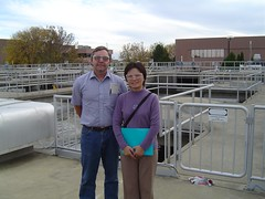 Fanghua Hao (China) on a tour of the Green Bay Metropolitan Sewerage District facility guided by John Kennedy | by uwgbweb