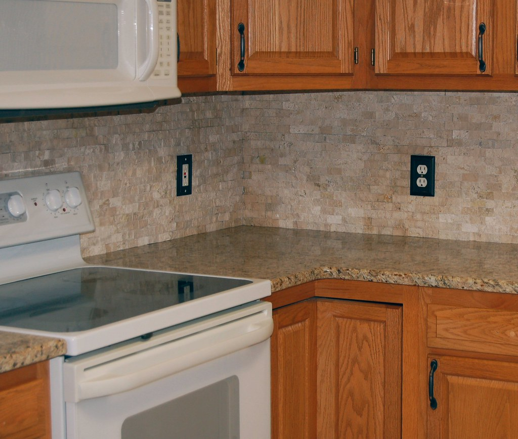 Stone backsplash granite charlotte countertops flickr for 3 4 inch granite countertops