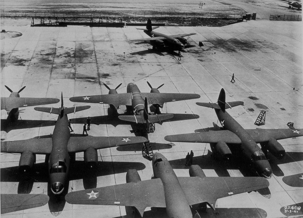B 26 Marauder Eight B 26 Marauders Of The Us Army Air