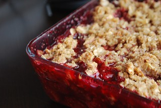 Rhubarb Raspberry Crisp | by Alejandra of Always Order Dessert