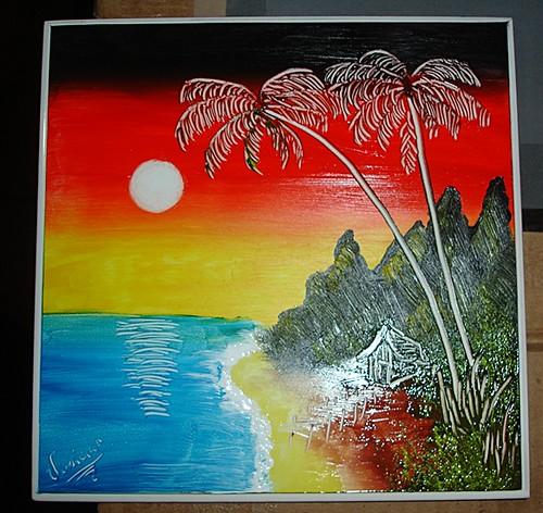 Pintura a dedo em azulejo - casinha beira mar | Azulejo ...