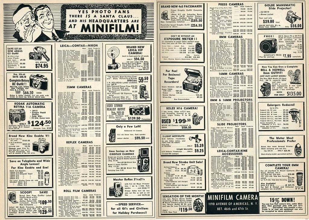 dec 1952 minifilm mail order ad argus c3 outfit ret flickr. Black Bedroom Furniture Sets. Home Design Ideas