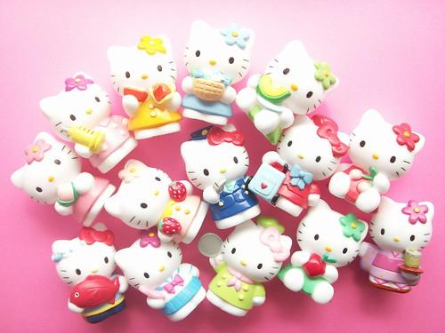 Japanese Hello Kitty Toys : Kawaii cute hello kitty plastic small mascot doll japanese