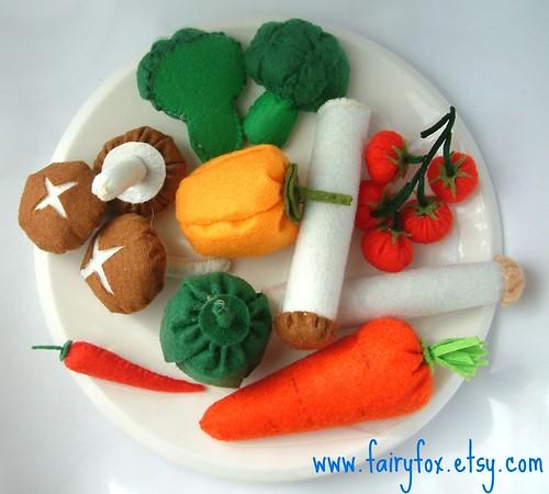 Felt Food Toys R Us : Felt food pattern vegetables etsy view