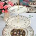 White and Gold Vintage 3 Tier Cake Stand