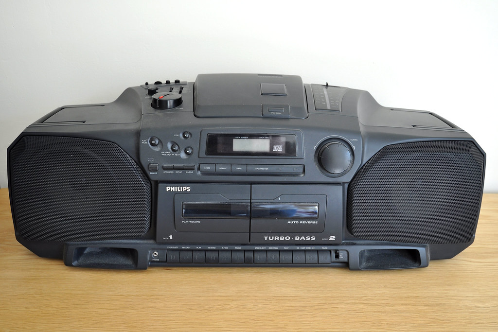 Ghetto blaster philips az8304 radio cassette recorder cd p flickr - Philips ghetto blaster ...