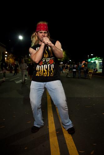 Halloween On Franklin Street in Chapel Hill - 10/31/09