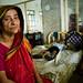 A Bangladeshi woman and her son.