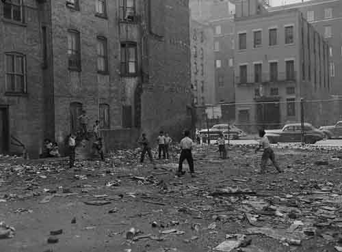 Children Playing Sandlot Baseball In East Harlem 1951 On