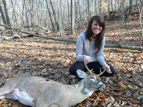 My gf with my deer | by Wired To Hunt