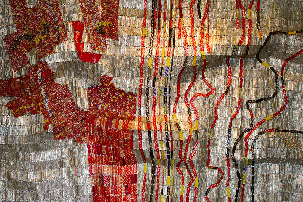Sculpture (Detail) by El Anatsui / Jack Shainman Gallery ...