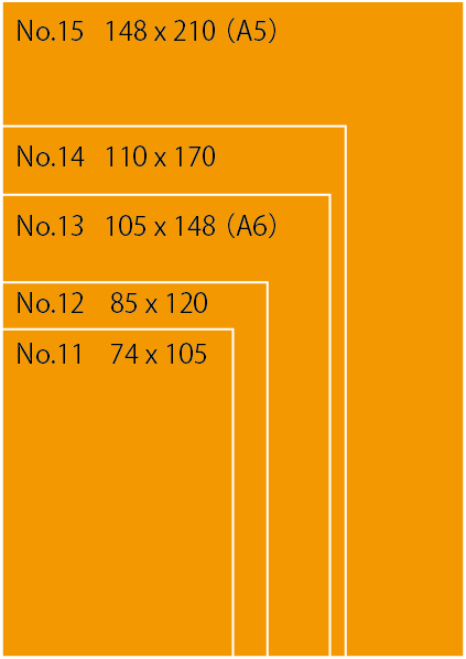 RHODIA ロディア サイズ比較