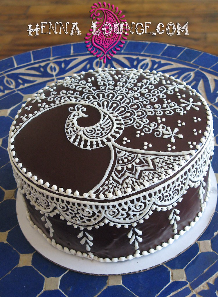 Mehndi Cake Designs : Mehndi inspired cake henna style decorating by