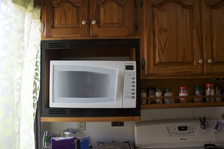 White Kitchen Microwave Storage Rack