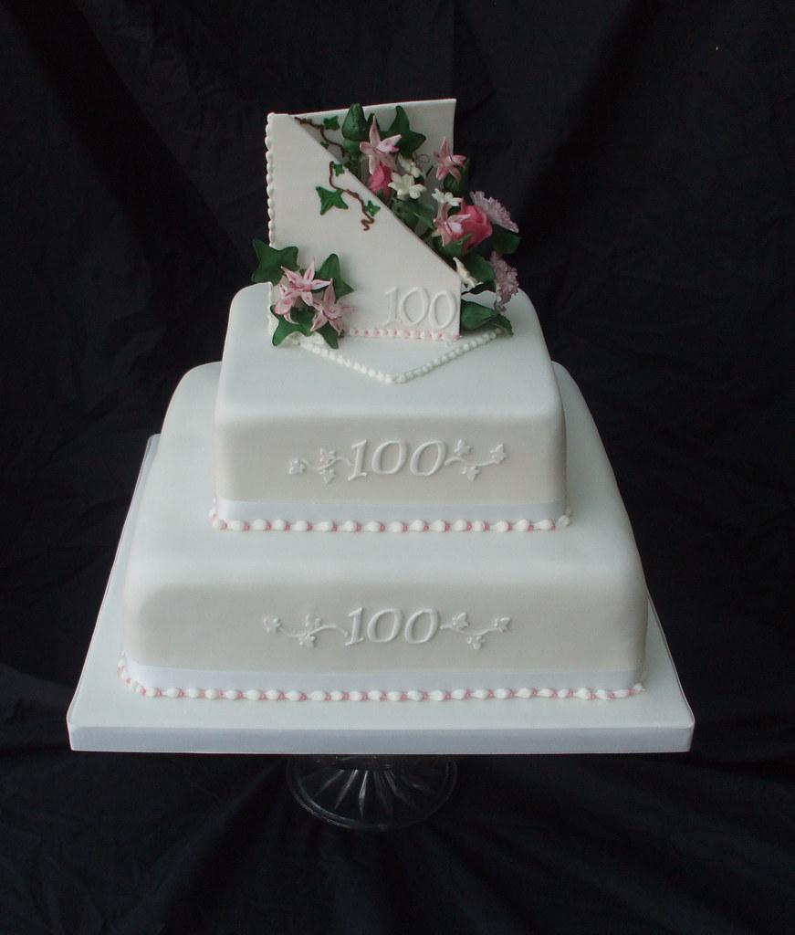 100th Birthday Cake Bottom Tier Was A Rich Fruit Cake