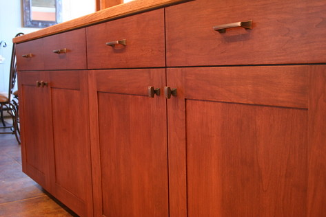 Mission Style Cherry Kitchen Cabinets With Solid Field By