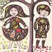 1960's Nursery Rhyme Book Illustration - Sugar & Spice