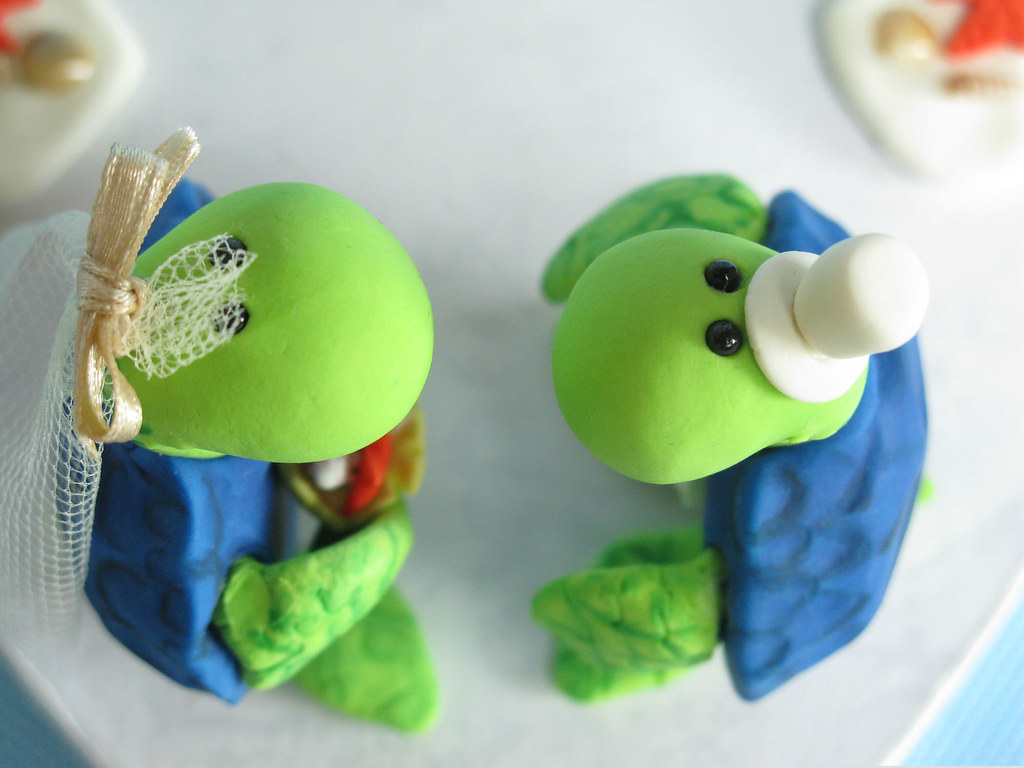 sea turtle wedding cake topper custom sea turtles wedding cake toppers with arc 19729