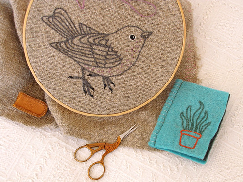 Embroidered Tea Towel | by Geninne