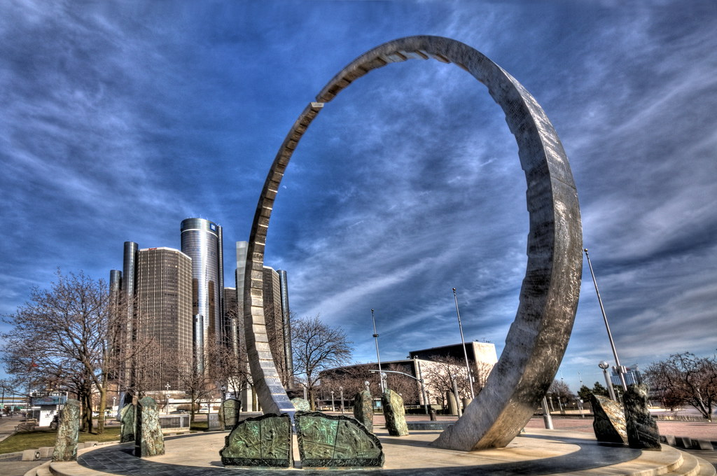 Labor Legacy Landmark In Detroit S Hart Plaza 169 Brian