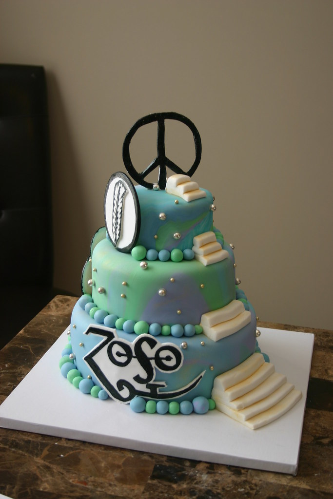 Led Zeppelin Cake My First Time Quot Marbling Quot Fondant Mary Katherine Flickr