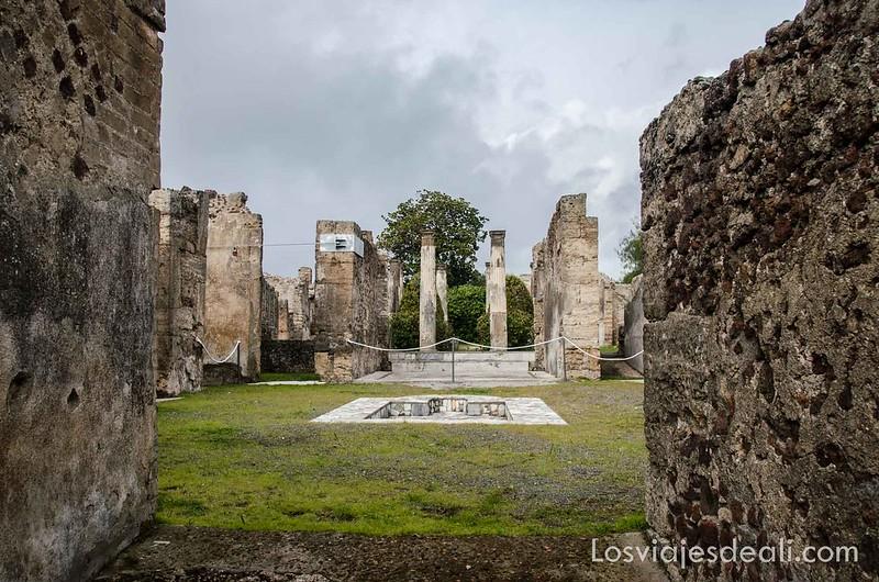 visita a Pompeya casas